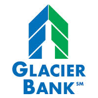 Glacier Bank Logo White